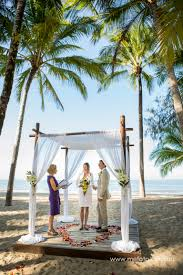 wedding arches cairns kewarra resort cairns qld elopement from germany