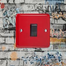box red rocker light switch 1 gang 10a 1 or 2 way cq xy1b pr