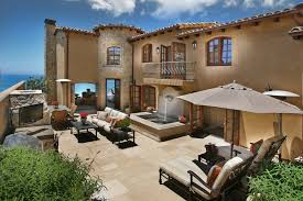 House Plans With Outdoor Living Space Terrific Oceanside Mediterranean Home Design Performing Popular