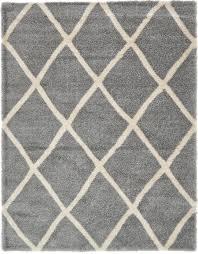 gray 10 u0027 x 13 u0027 luxe trellis shag rug area rugs esalerugs