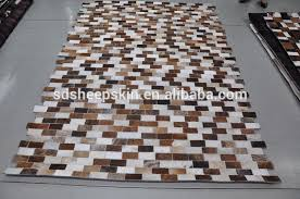 Cowhide Leather Rug Genuine Nature Patchwork Cowhide Carpet Cow Hair On Leather Rugs
