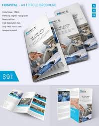 simple hospital a3 trifold brochure download free u0026 premium