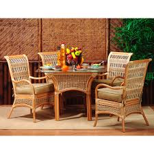 spice islands wicker sunroom dining set hayneedle