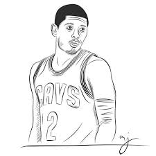 kyrie irving coloring pages 28 images kyrie irving basketball