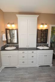 bathroom bathroom linen cabinet with hamper bathroom vanity with