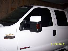 Ford F250 Truck Mirrors - 08 tow mirrors installation wiring chrome covers and light