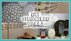 Diy Bedroom Decor by Diy Stenciled Wall Easy Diy U0026 Teen Room Decor Youtube