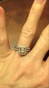neil emerald cut engagement rings certified colorless emerald cut halo white gold bridal