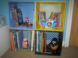 nickety nackety noo milk crate bookshelves