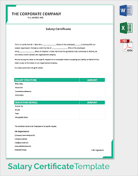sample salary certificate template 21 documents in pdf