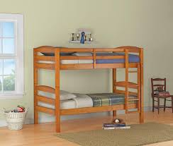 Wooden Bunk Bed Designs by Twin Over Twin Convertible Loft Bunk Bed Barnwood Designer Loft