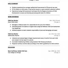 nanny cv sample a resume a cover letter