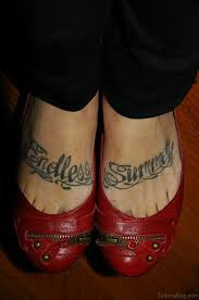 50 wonderful wording tattoos on foot