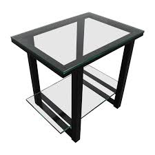 crate and barrel accent tables 66 off crate and barrel crate barrelglass and metal two shelf