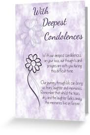 condolences greeting card with deepest condolences lilac sketched flowers with sentiment