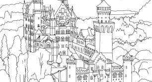 castle coloring pictures neuschwanstein castle coloring page