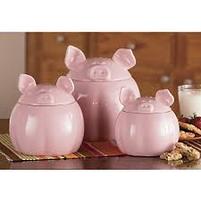 pig kitchen canisters kitchen canisters one set for and one set for we