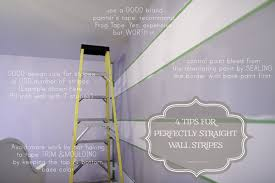 how to paint wall stripes perfectly in three hours