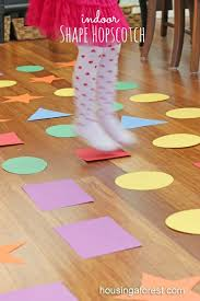 indoor games for kids shape hopscotch is a fun gross motor game