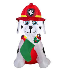 amazon com paw patrol christmas airblown inflatable marshall