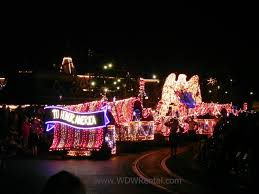 disney world light parade to honor america float from disney s main street electrical parade