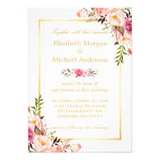 wedding card for floral wedding invitations announcements zazzle