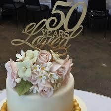 birthday cake topper 50 years loved cake topper gold cake topper