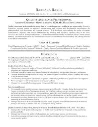 Sample Resume Objectives Supervisor by Qc Supervisor Resume Free Resume Example And Writing Download