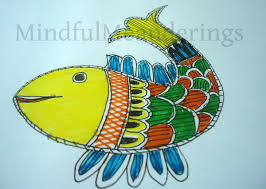 painting a simple madhubani fish in 12 steps folk art artsy and