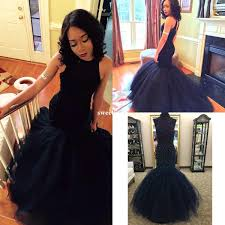 cheap mermaid long navy blue prom dresses 2017 tulle lace beaded