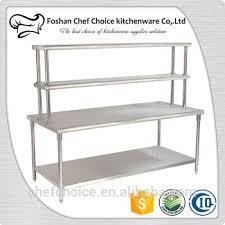 stainless steel folding work table reinforced frame resturant