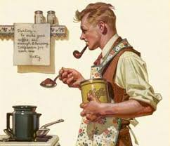 norman rockwell coffee painting arizona coffee