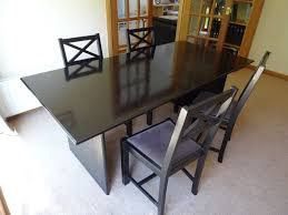 Dimension Of The Table Dark Brown Wood Dining Table Buy Or Sell Find It Used