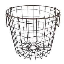 Large Basket For Storing Throw Pillows Amazon Com Dii Stackable Metal Utility Storage Bin For Heavy