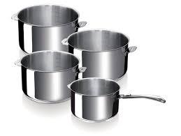 batterie de cuisine beka set de 4 corps de casserole evolution avec poignée amovible beka