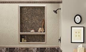 diy project tile shower nook