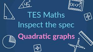 tes maths inspect the spec quadratic graphs tes