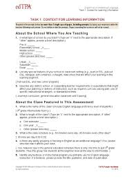 9nchqazp edtpa eal context for learning 1 english as a second