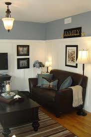 pikes u0027 peak grey paint color with brown leather furniture