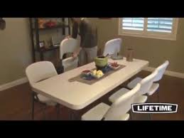 Lifetime Adjustable Table Lifetime 6 Ft Commercial Adjustable Height Folding Tables 22 Pack