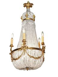 French Empire Chandelier Lighting Antique French Empire Chandelier Crystal And Bronze At 1stdibs