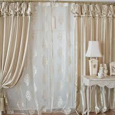 curtains for livingroom high end fashionable chagne gold satin living room curtain