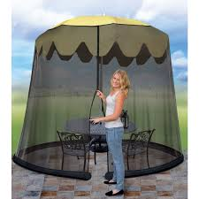 Patio Umbrella With Screen Enclosure 11 Umbrella Table Screen Cover Mosquito Bug Insect Outdoor Patio