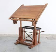 Industrial Drafting Table Impressive Industrial Wooden Drafting Table