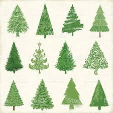 christmas tree drawings stock vector art 485504148 istock