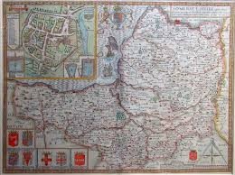 Somerset England Map Somersetshire The Antique Map Shop Ltd Bath England