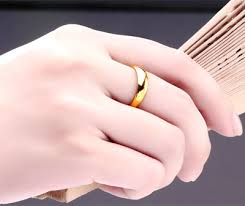 plain gold wedding bands plain gold rings 24k yellow gold wedding bands for men