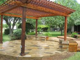 Patio Designs With Pergola by Oklahoma Flagstone Patio Constructed By Ol U0027 Yeller Landscaping