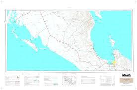 La Paz Mexico Map by Carta Topografica Imagen Digital Escala 1 250000 Serie Ii