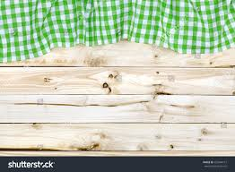 Wooden Table Top View Green Tablecloth On Wooden Table Top Stock Photo 556944151